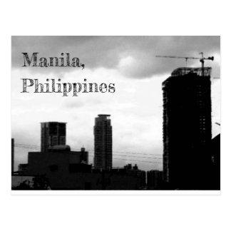 Manila City Sky Line Postcard