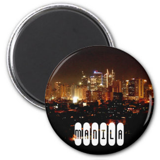Manila in Philippines 2 Inch Round Magnet