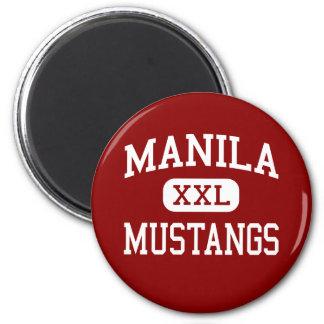 Manila - Mustangs - High School - Manila Utah Fridge Magnet
