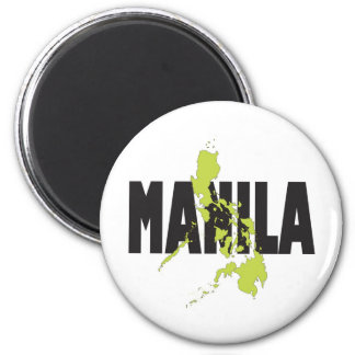 Manila, Philippines 2 Inch Round Magnet