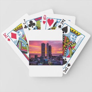 Manila Philippines Skyline Bicycle Playing Cards