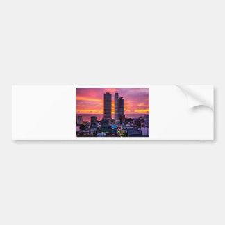 Manila Philippines Skyline Bumper Sticker