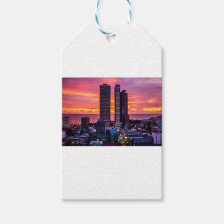 Manila Philippines Skyline Gift Tags