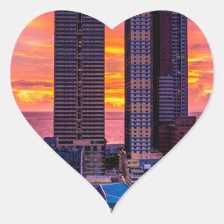 Manila Philippines Skyline Heart Sticker