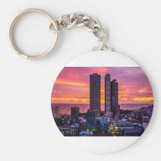 Manila Philippines Skyline Keychain