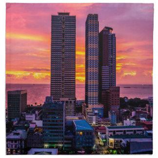 Manila Philippines Skyline Napkin
