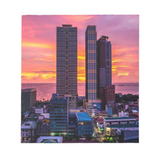 Manila Philippines Skyline Notepad