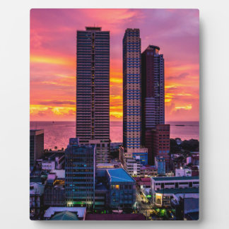 Manila Philippines Skyline Plaque