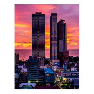 Manila Philippines Skyline Postcard