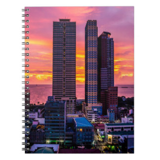 Manila Philippines Skyline Spiral Notebook