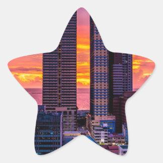 Manila Philippines Skyline Star Sticker