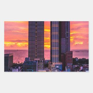 Manila Philippines Skyline Sticker