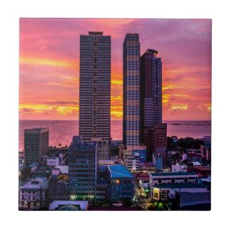 Manila Philippines Skyline Tile