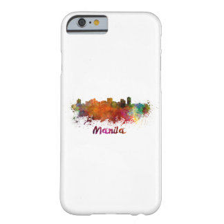Manila skyline in watercolor barely there iPhone 6 case