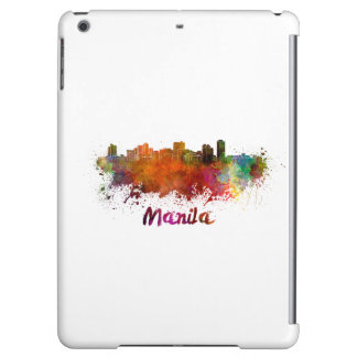 Manila skyline in watercolor case for iPad air