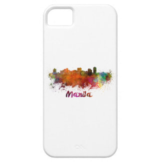 Manila skyline in watercolor iPhone 5 cases