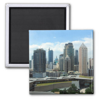 manila skyline square magnet
