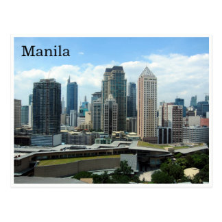 manila skyline postcard