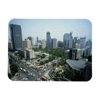 Manila Skyline Vinyl Magnet