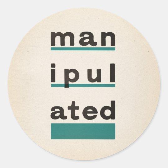 manipulATED Classic Round Sticker