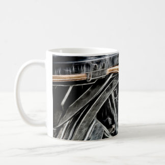 Manipulated Steam Train components Image Coffee Mug