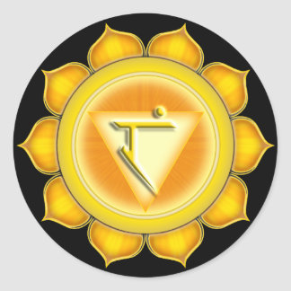 Manipura or Solar Plexus the 3rd Chakra Round Sticker
