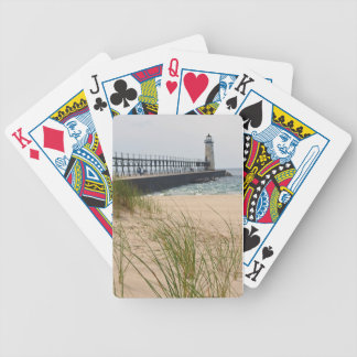 Manistee Lighthouse Bicycle Playing Cards