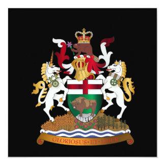 "Manitoba coat of arms 5.25"" square invitation card"