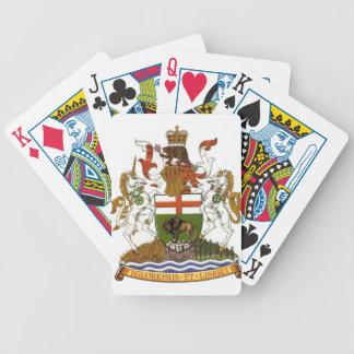 Manitoba Coat of Arms Bicycle Poker Deck