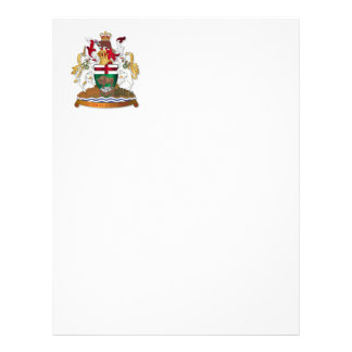 Manitoba coat of arms letterhead