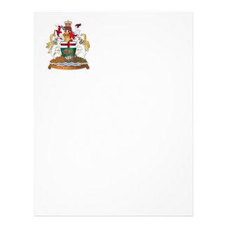 Manitoba coat of arms letterhead design