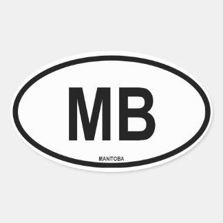 "Manitoba ""MB"" Oval Sticker"