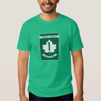 Manitoba, Trans-Canada Highway Sign T-shirt