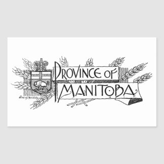 Manitoba Vintage Coat of Arms Sticker