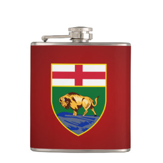 Manitoban coat of arms Flask
