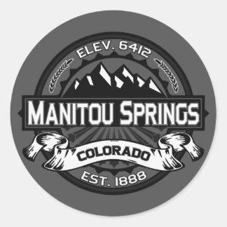 Manitou Springs Logo Gray Classic Round Sticker