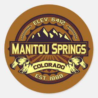 Manitou Springs Logo Vibrant Classic Round Sticker