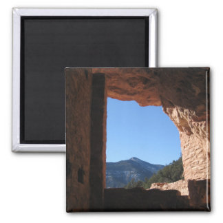 Manitou Window Square Magnet