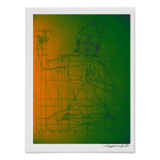 Manjushri Sketch Poster