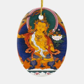 MANJUSHRI TIBET MYTHOLOGY CERAMIC OVAL ORNAMENT