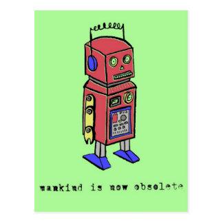 Mankind Is Now Obsolete Postcard