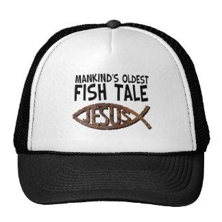 Mankind's Oldest Fish Tale Trucker Hat