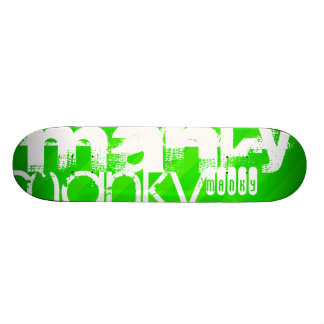 Manky; Neon Green Stripes Skate Board Deck