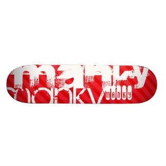 Manky; Scarlet Red Stripes Skate Deck