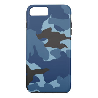 Manly Blue Camo Military Camouflage Pattern Tough iPhone 8 Plus/7 Plus Case