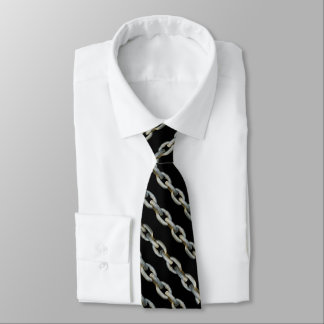 MANLY CHAINS TIE - BLACK/PEWTER/METAL