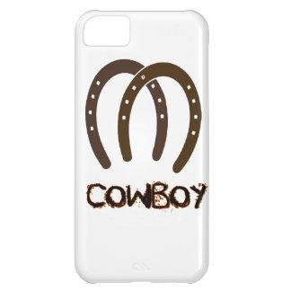 Manly Cowboy and Horse Shoes iPhone 5C Cases