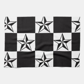 Manly Dark Stars Print Kitchen Towels