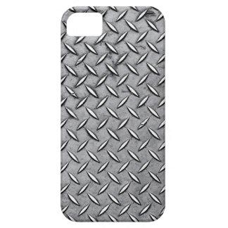 Manly Diamond Cut Metal - Cool Metallic Plate Look iPhone 5 Case