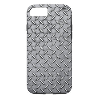 Manly Diamond Cut Metal - Cool Metallic Plate Look iPhone 7 Case